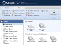 Stratus - an actual screenshot of the Role Center